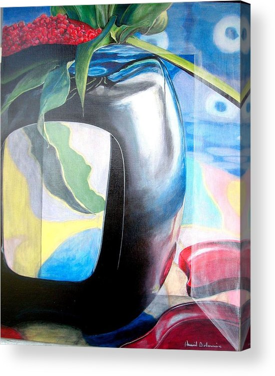 Nature-morte Acrylic Print featuring the painting Cadre by Muriel Dolemieux