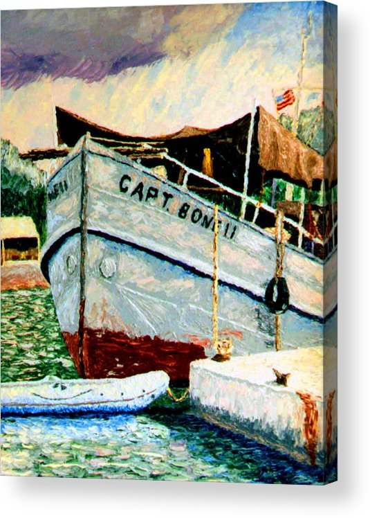 Ship Acrylic Print featuring the painting Captain Bones by Stan Hamilton