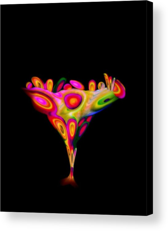 Chalice Acrylic Print featuring the mixed media Chalice by Jacqueline Migell