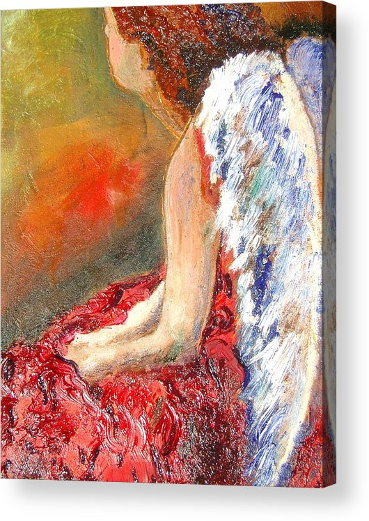 Angels Acrylic Print featuring the painting Clarity Of Thought by J Bauer