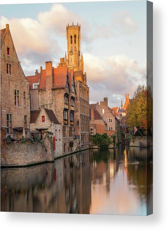 Rozenhoedkaai Acrylic Print featuring the photograph Classic Bruges by Dalibor Hanzal