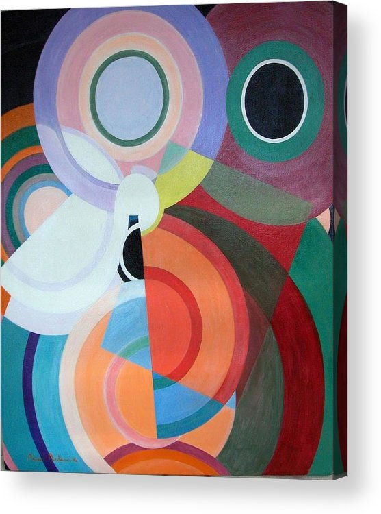 Abstract Acrylic Print featuring the painting Complement by Muriel Dolemieux
