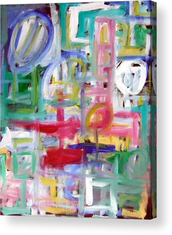 Abstract Acrylic Print featuring the painting Composition No. 5 by Michael Henderson
