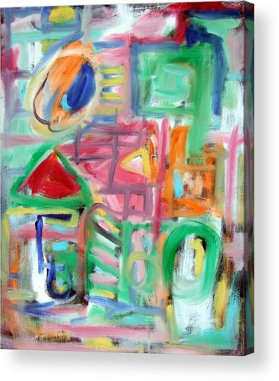 Abstract Acrylic Print featuring the painting Composition No. 6 by Michael Henderson