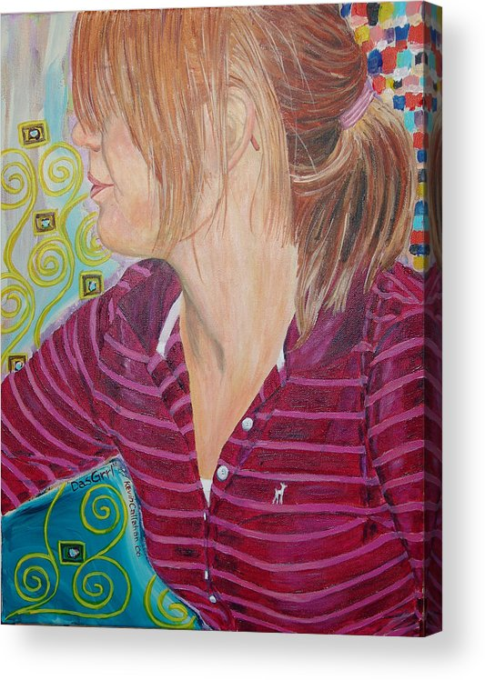 Kevin Callahan Acrylic Print featuring the painting Das Girl by Kevin Callahan