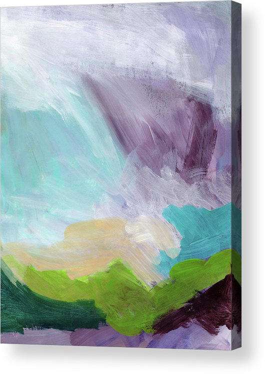 Abstract Acrylic Print featuring the painting Deepest Breath- Abstract Art by Linda Woods by Linda Woods