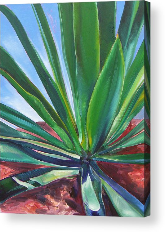Botanical Acrylic Print featuring the painting Desert Plant by Karen Doyle