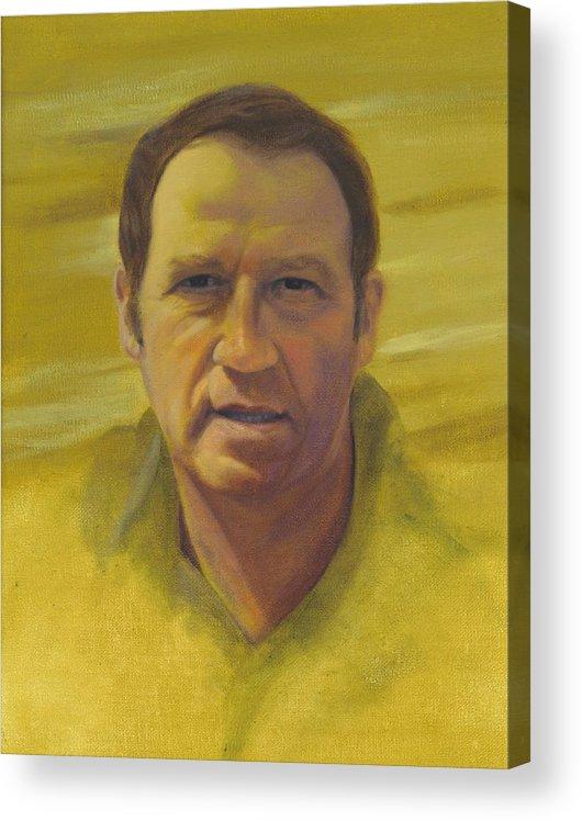 Portrait Acrylic Print featuring the painting Doug by Laurel Ellis