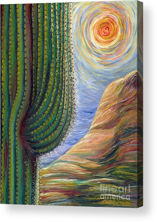 Landscape Acrylic Print featuring the painting Dreaming in Color by Gretchen Matta