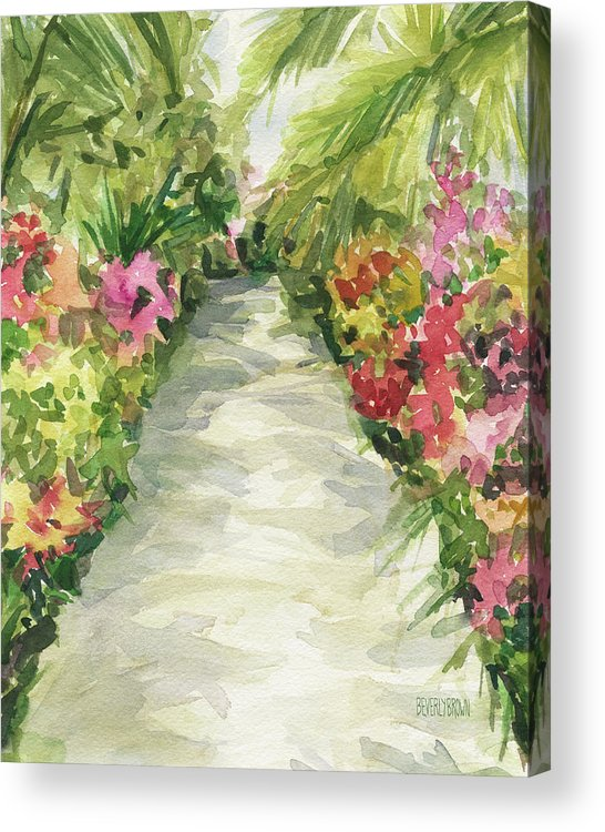 Garden Path New York Botanical Garden Orchid Show Acrylic Print By