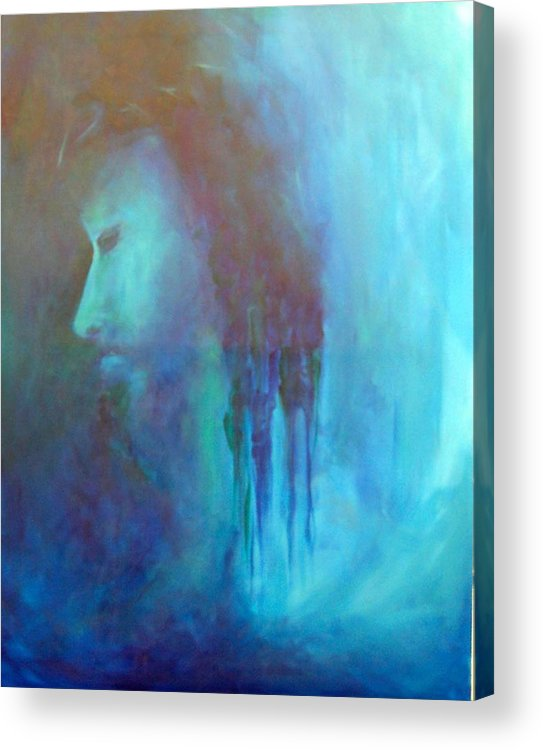 Abstract Acrylic Print featuring the painting Gethsemane by DeLa Hayes Coward
