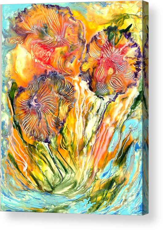 Healing Acrylic Print featuring the painting Healing Blossoms for Heather Ward by Heather Hennick