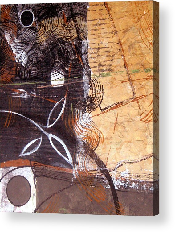 Abstract Acrylic Print featuring the painting Hidden Treasures by Ruth Palmer