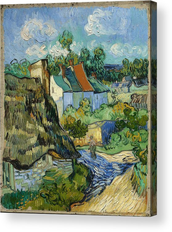 Vincent Van Gogh Acrylic Print featuring the painting Houses In Auvers by Van Gogh