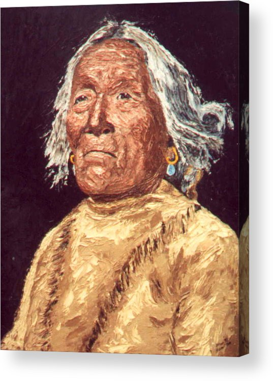 Indian Acrylic Print featuring the painting Indian Warrior by Stan Hamilton