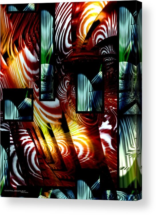 Abstract Acrylic Print featuring the painting Intrigue by Dreamlight Creations