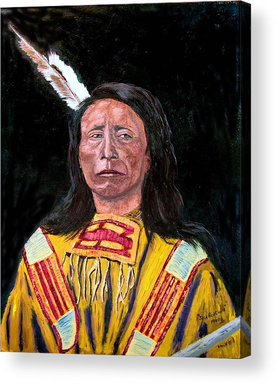 Indian Acrylic Print featuring the painting Jack Red Cloud by Stan Hamilton