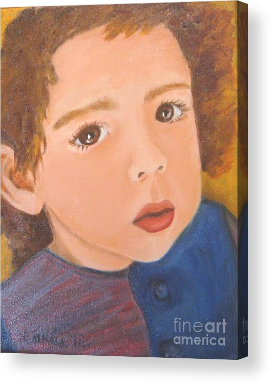 Portrait Acrylic Print featuring the painting Jackson by Laurie Morgan