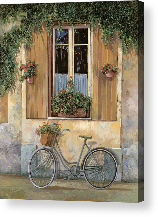 Bike Acrylic Print featuring the painting La Bicicletta by Guido Borelli