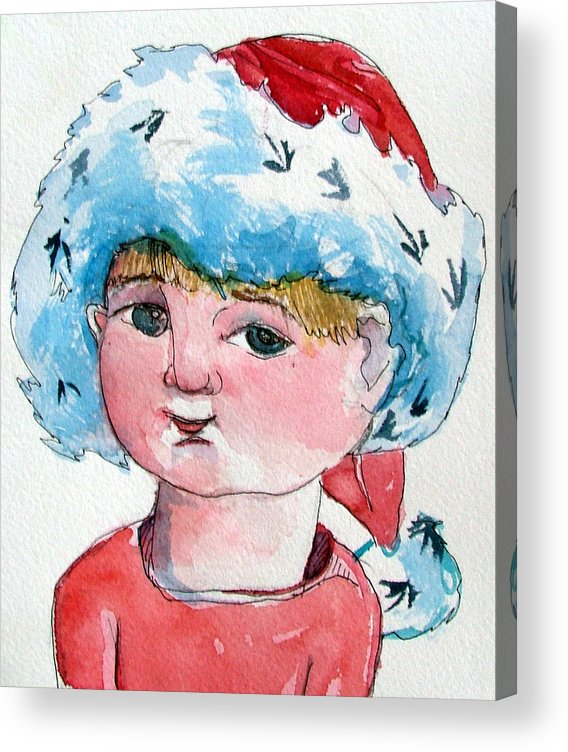 Santa Acrylic Print featuring the painting Lexi by Mindy Newman