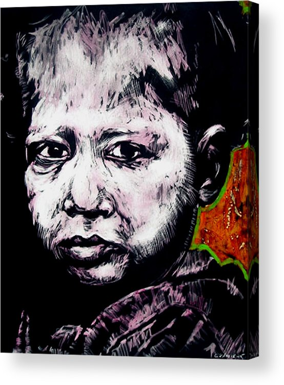 Acrylic Print featuring the mixed media Little Rosita by Chester Elmore