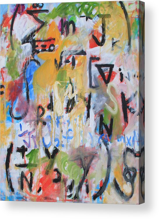 Math Acrylic Print featuring the painting Math IIi by Michael Henderson