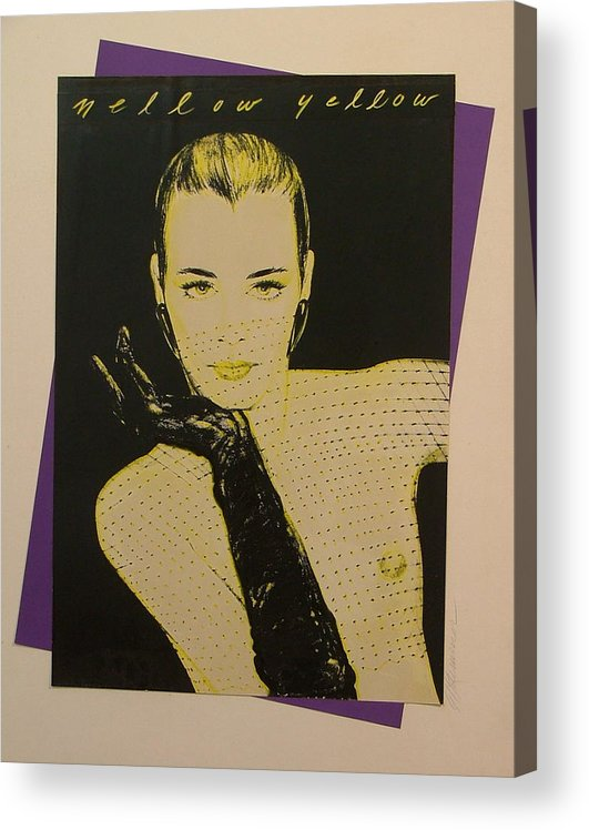 Fashion Acrylic Print featuring the painting Mellow Yellow by Gary Kaemmer