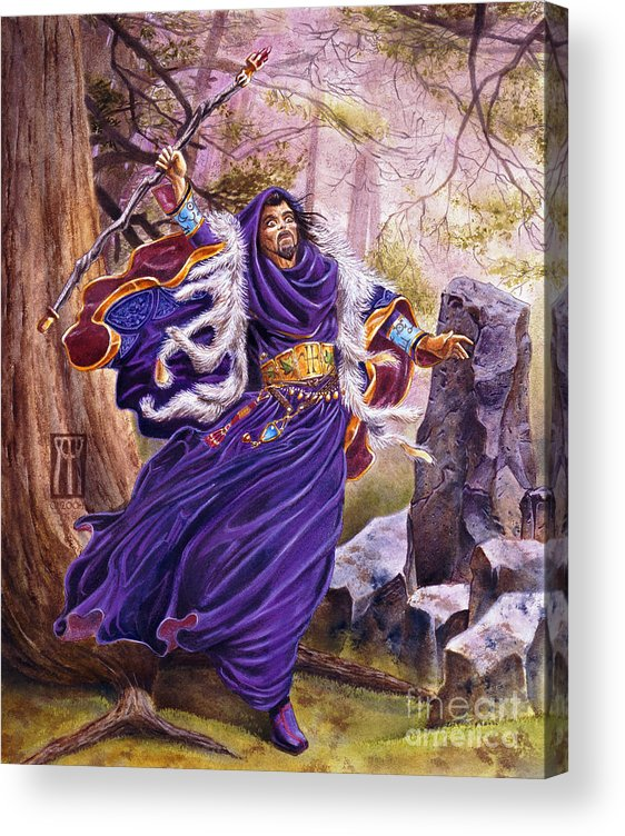 Artwork Acrylic Print featuring the painting Merlin by Melissa A Benson