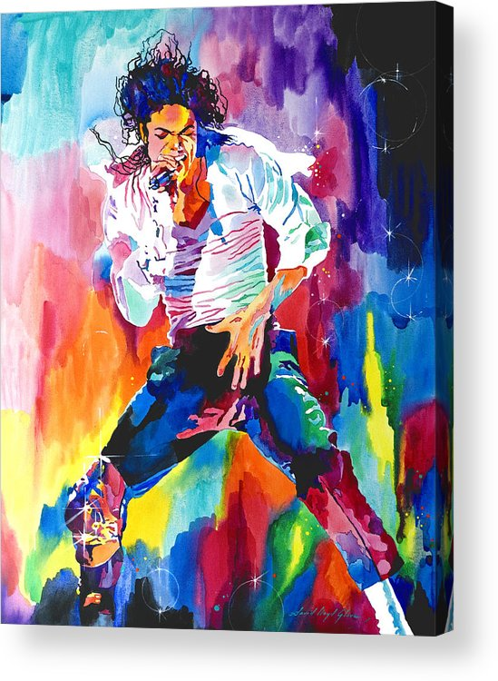 Michael Jackson Acrylic Print featuring the painting Michael Jackson Wind by David Lloyd Glover