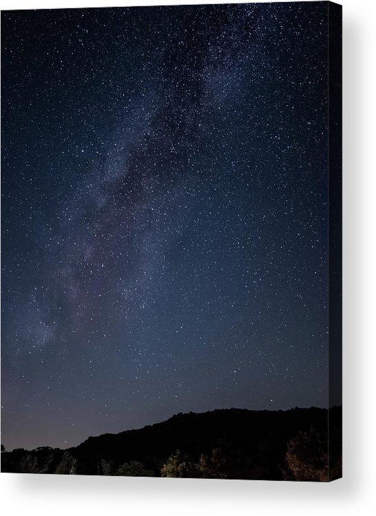 California Acrylic Print featuring the photograph Milky Way Over Lake Henshaw by Adam Rainoff