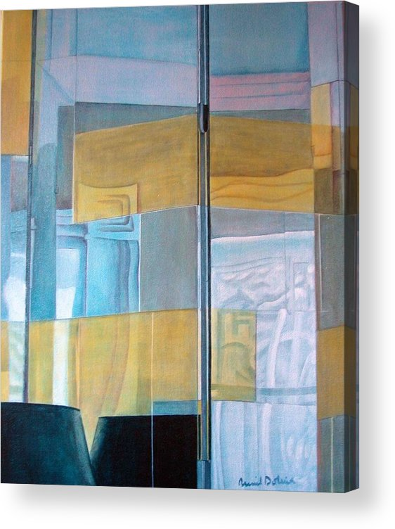 Miroir Acrylic Print featuring the painting Miroir by Muriel Dolemieux
