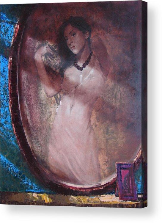 Ignatenko Acrylic Print featuring the painting Mirror for the sun by Sergey Ignatenko