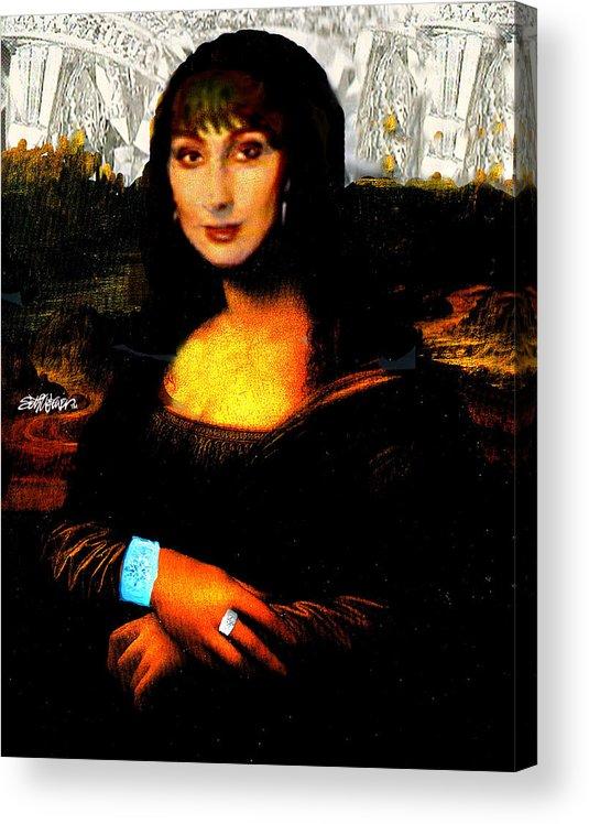 Mona Cher Acrylic Print featuring the digital art Mona Cher by Seth Weaver