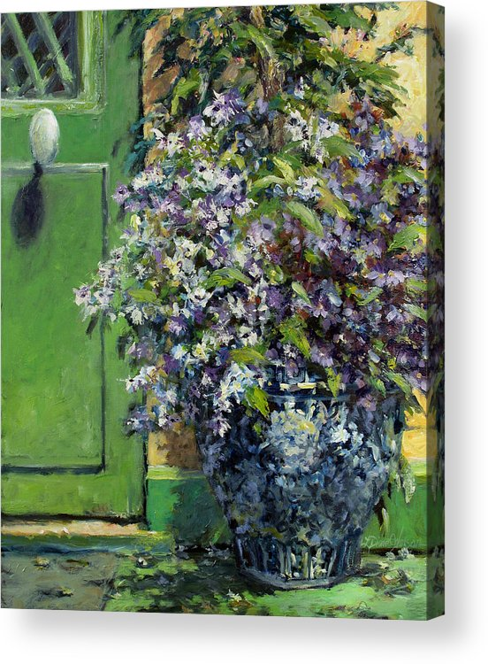 Giverny France Acrylic Print featuring the painting Monet's Entry by L Diane Johnson