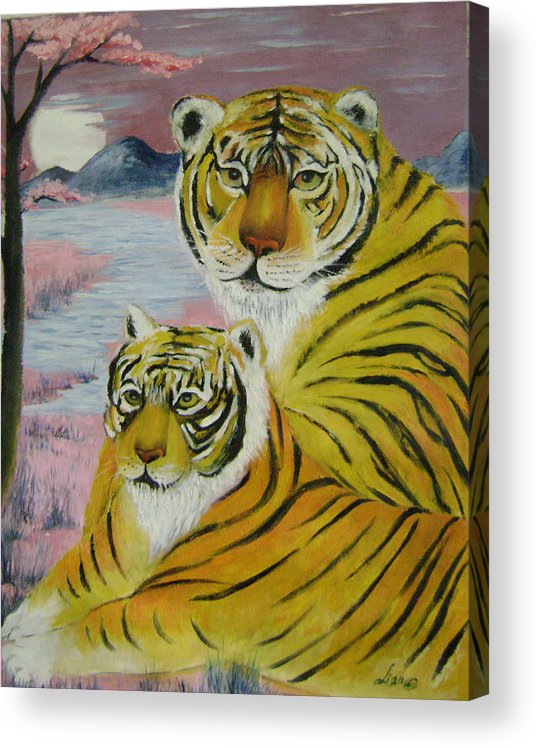 Imaginative Acrylic Print featuring the painting Mother And Child by Lian Zhen