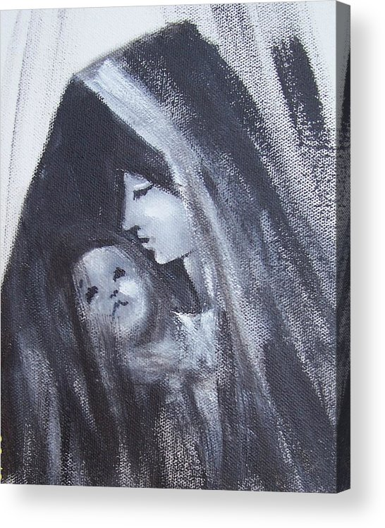 Painted Scetch Acrylic Print featuring the painting Motherly Love by Martha Mullins