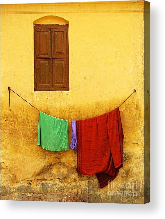 Window Acrylic Print featuring the photograph Mysore Wall by Derek Selander