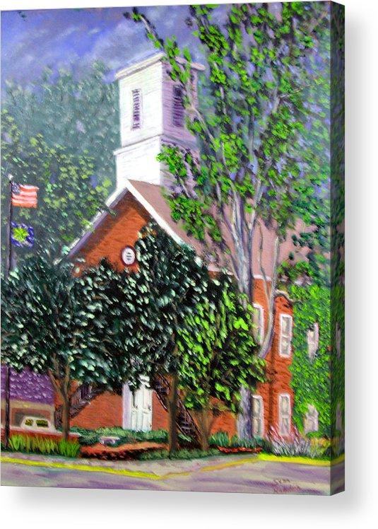 Plein Air Acrylic Print featuring the painting Nashville Court House by Stan Hamilton