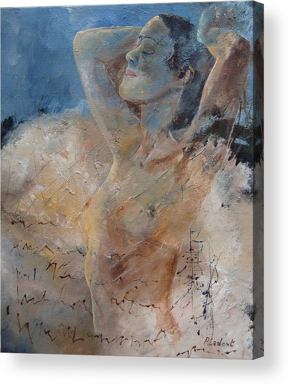 Nude Acrylic Print featuring the painting Nude 0508 by Pol Ledent