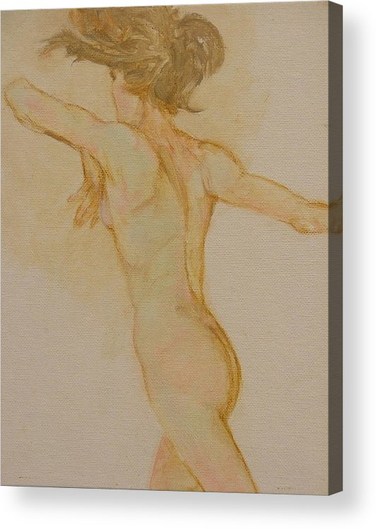Female Acrylic Print featuring the painting Nude Dancer by Gary Kaemmer