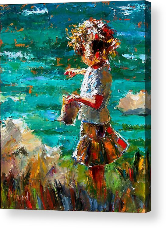 Children Acrylic Print featuring the painting One At A Time by Debra Hurd