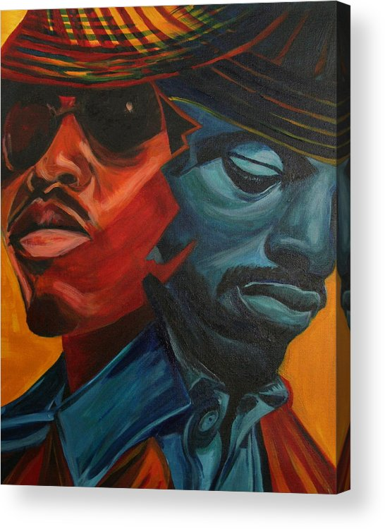 Big Boi Acrylic Print featuring the painting Outkast by Kate Fortin