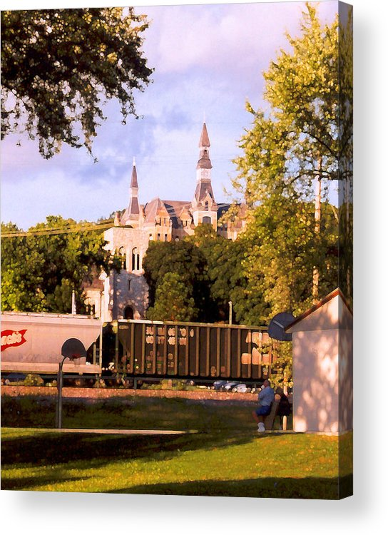 Landscape Acrylic Print featuring the photograph Park University by Steve Karol