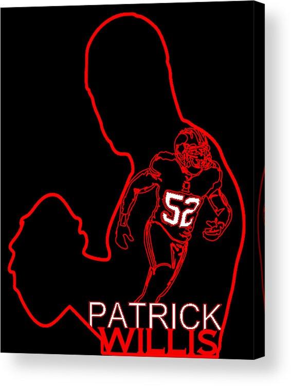 Patrick Willis Acrylic Print featuring the digital art Patrick Willis by Michael Bergman