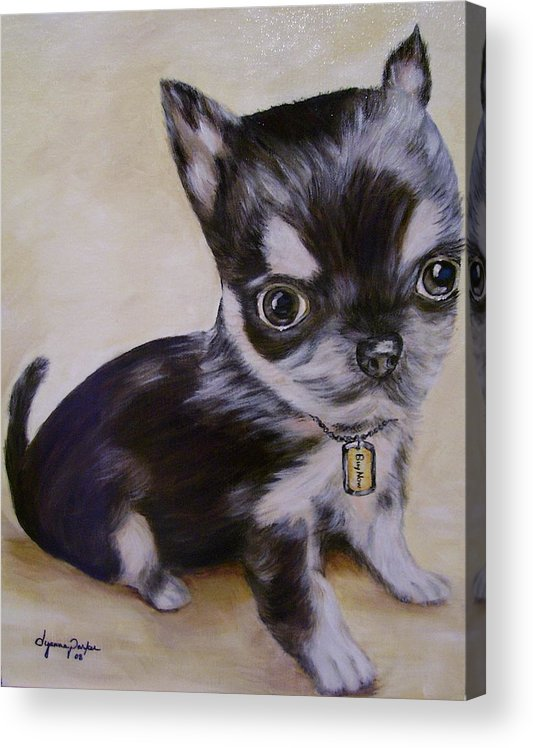 Dog Acrylic Print featuring the painting Pay Pal by Dyanne Parker