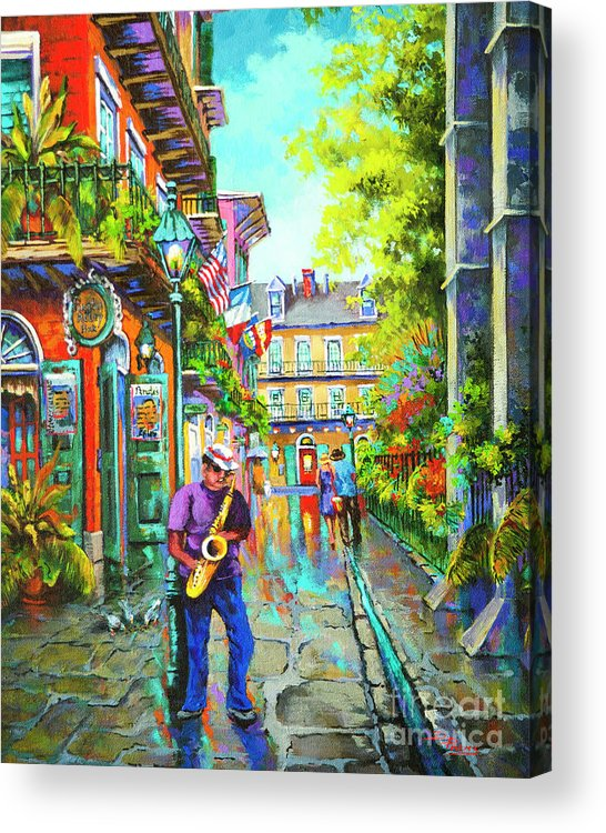New Orleans Art Acrylic Print featuring the painting Pirate Sax by Dianne Parks