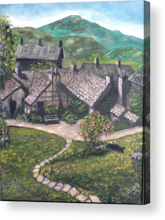 Pastoral Cottages Acrylic Print featuring the painting Poet by Dan Bozich