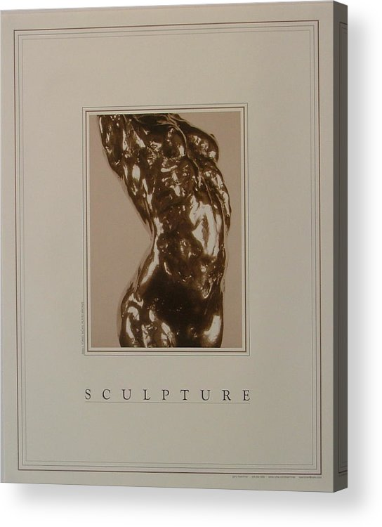 Female Nude Acrylic Print featuring the painting Print of Sculpture by the artist by Gary Kaemmer
