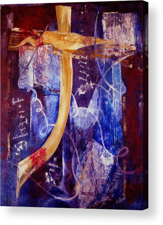 Abstract Acrylic Print featuring the painting Restore To Me by Ruth Palmer