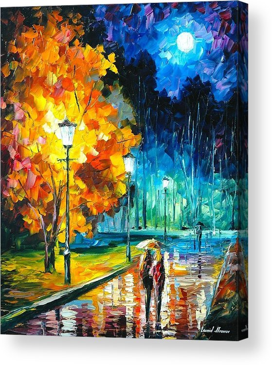 Umbrella 2 - PALETTE KNIFE Oil Painting On Canvas By